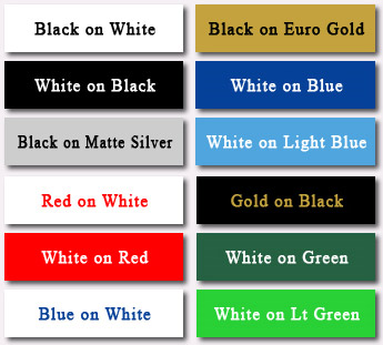 Popular Laser Engravable Plastic Colors